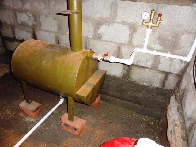 Котел для водяного отопления дома своими руками