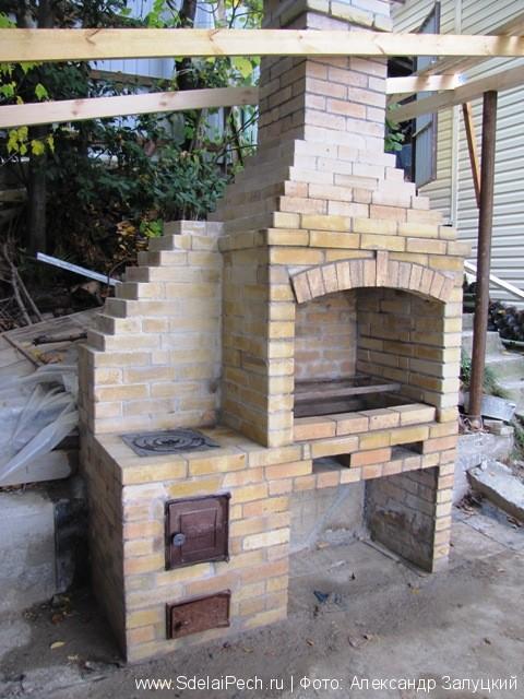 Как построить печь на улице своими руками
