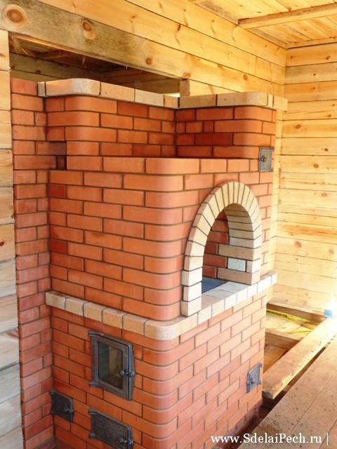 Проект печи для дома на дровах из кирпича своими руками фото 32